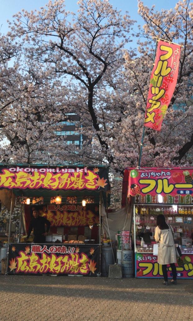 Sakura Festival Food Stalls || Fukuoka, Japan