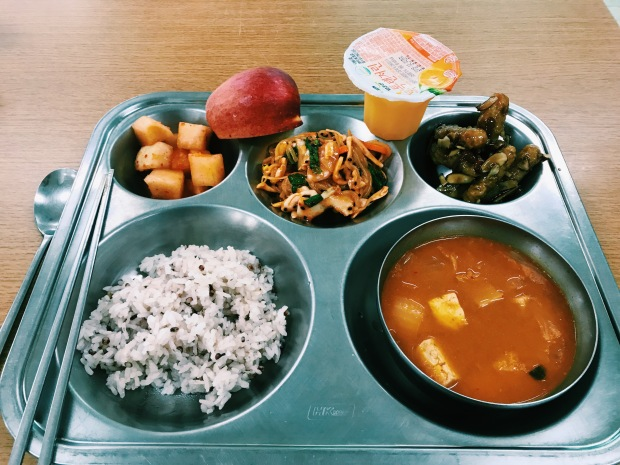 School lunch! || Bunam-myeon, South Korea