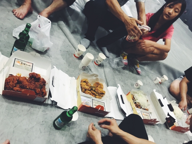 Post-climb chicken party. || Jeonju, South Korea