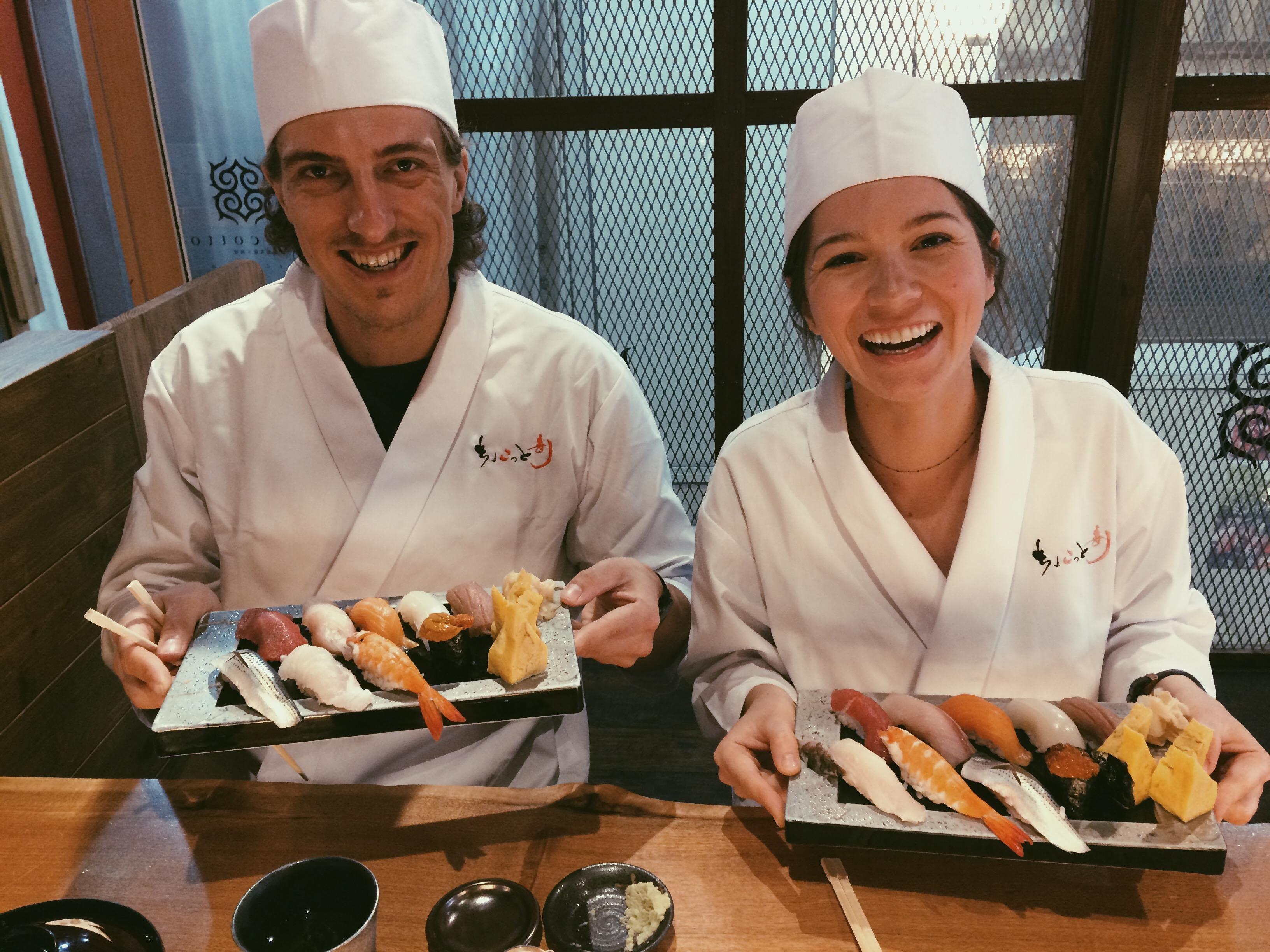 Sushi making class. | Okinawa, Japan